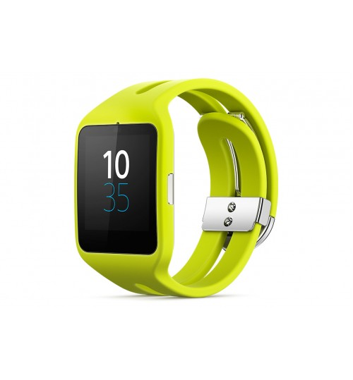 Smart Watche Sony,SmartWatch 3 for Android,Transflective Display SmartWatch,SWR50-YELWATCH,Yellow,Agent Guarantee