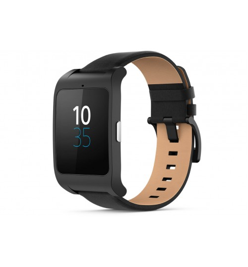Smart Watche Sony,SmartWatch 3 for Android,Transflective Display SmartWatch,SWR50-leather-black,Black,Agent Guarantee