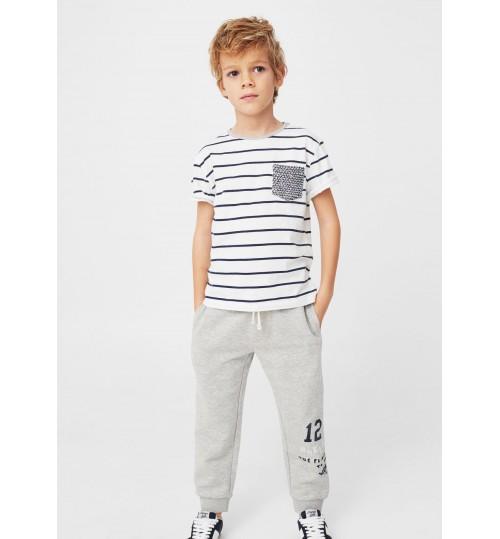 MANGO Kids  Jogging Flecked Trousers