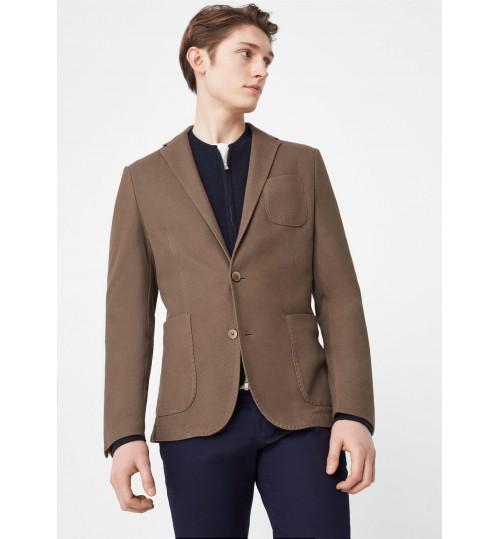MANGO Men Slim-Fit Unstructured Cotton Blazer