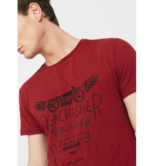 MANGO Men Slub-Cotton Printed  T-shirt