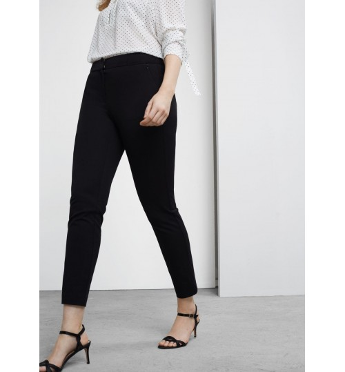 MANGO Cotton Straight Trousers