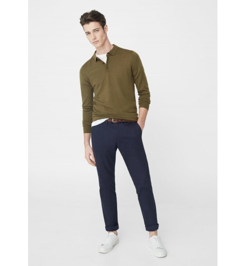 MANGO Men  Slim-Fit Cotton Chinos