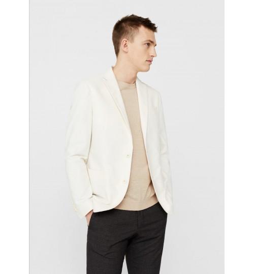 MANGO Men Slim-Fit Cotton-Blend Textured Blazer