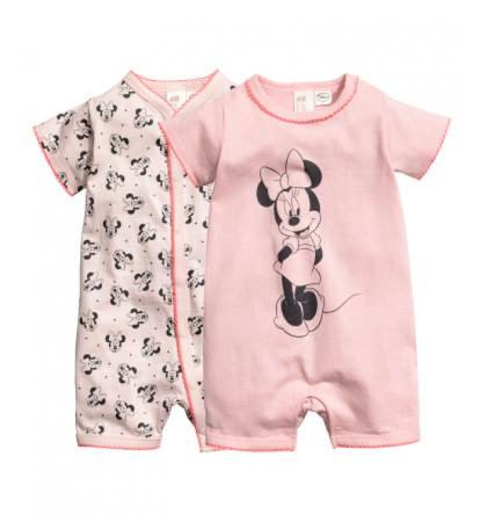 h m baby girl 2 pack all in one pyjamas two pyjamas all. Black Bedroom Furniture Sets. Home Design Ideas