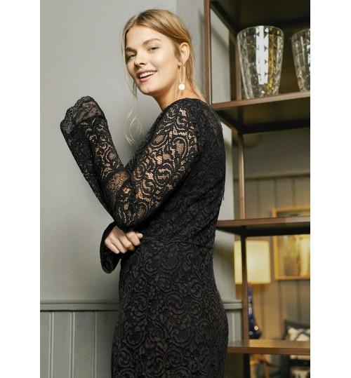 MANGO Plus Size Lace Dress