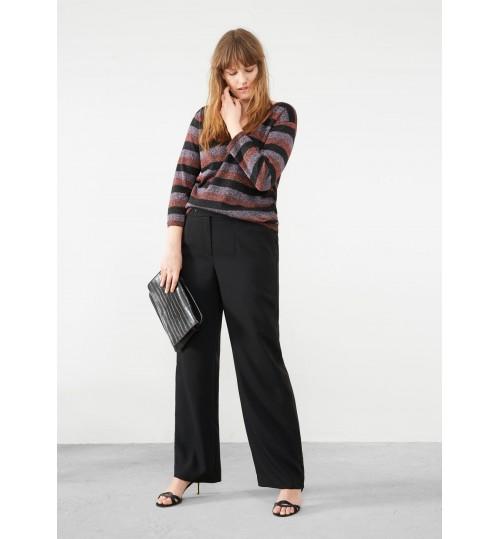 MANGO Plus Size Metallic Striped Sweater