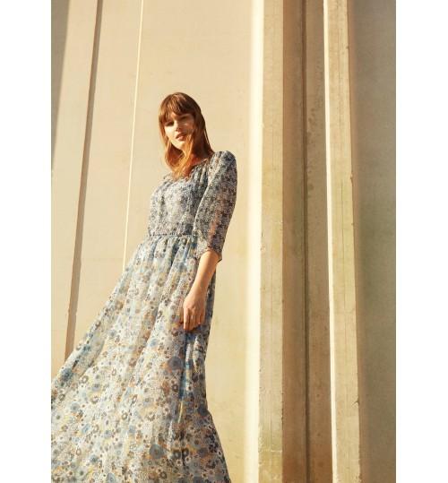 MANGO Plus Size Printed Off-Shoulder Dress