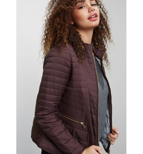 MANGO Plus Size Side-Zip Quilted Coat