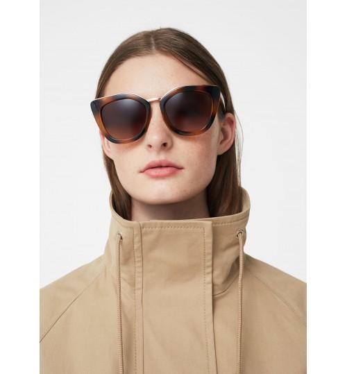 MANGO Tortoiseshell Tetro Sunglasses