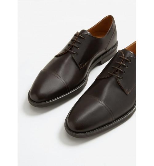 MANGO Leather Blucher Shoes