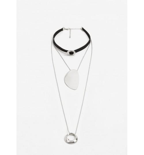 MANGO Pendant Triple Necklace