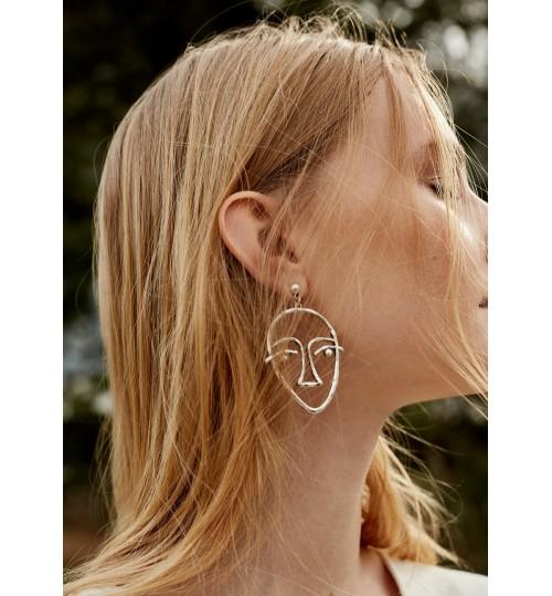 MANGO Face Earrings