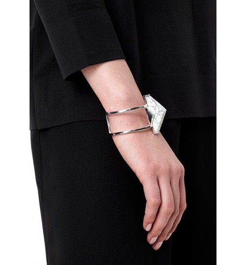 Riva Silver Bracelet With White Stone