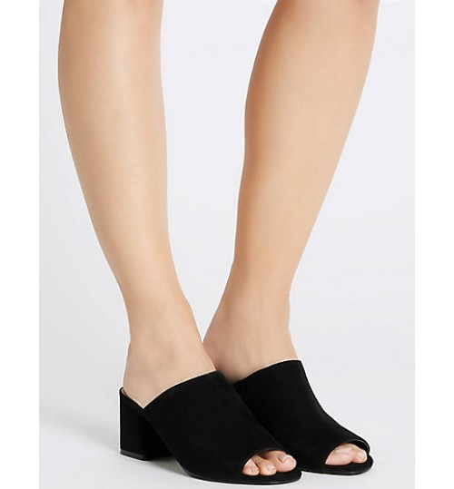Marks & Spencer Block Heel Mule Shoes