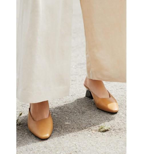 MANGO Geometric Leather Shoes
