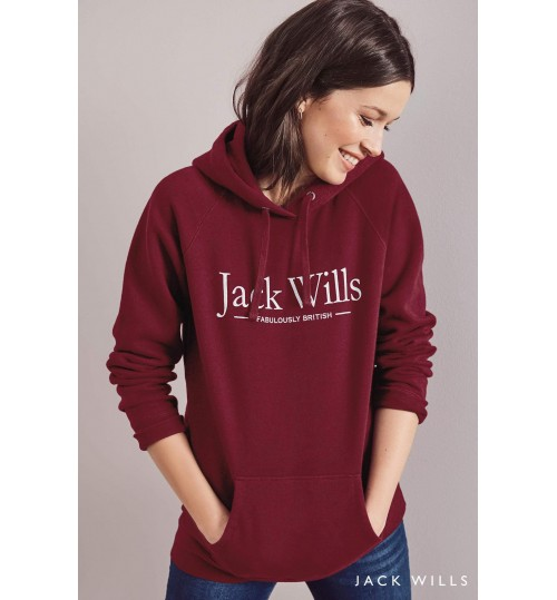 Jack Wills Damson Borrowfield Longline Hoody