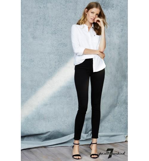7 For All Mankind Rinsed Black Slim Illusion Skinny Jean