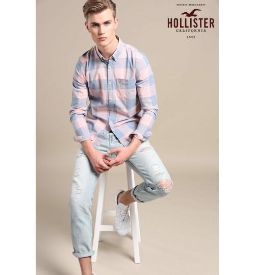 Hollister Pink/Blue Check Shirt