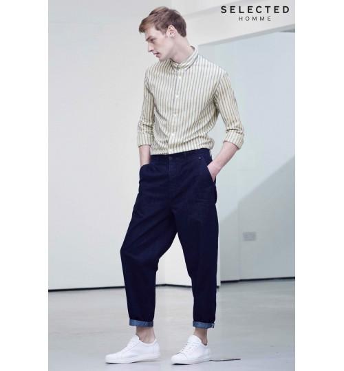 Selected Homme White Vintage Stripe Shirt