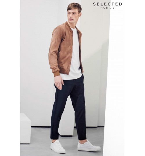 Selected Homme Suede Bomber Jacket