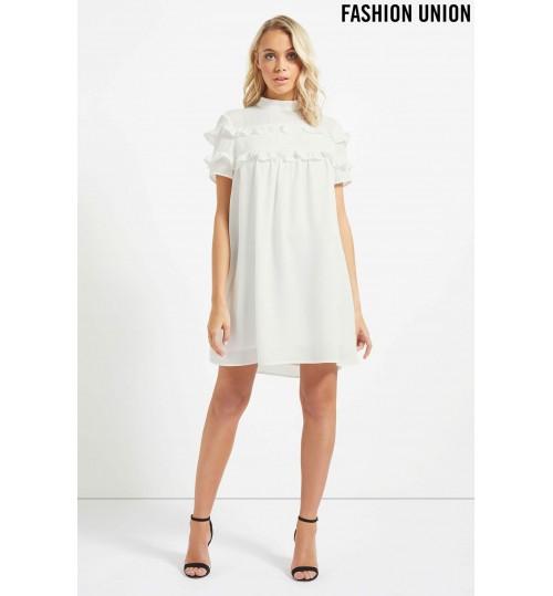 Fashion Union Ruffle Shift Dress