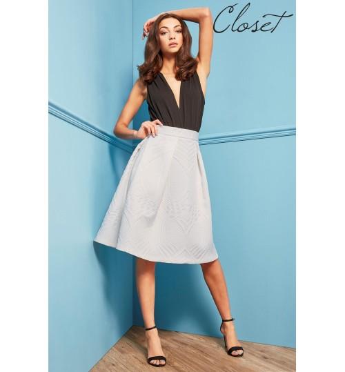 Closet Jaquard A line Skirt