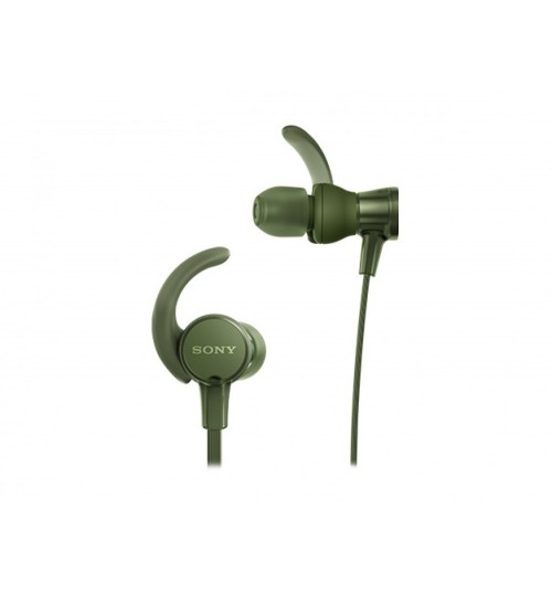 Sony Headphones, Extra Bass,MDR-XB510AS, In-Ear Sports Headphones with Mic,Green