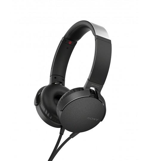 Sony Headphone,Sony,XB550AP,Extra Bass On-Ear Headphone, Black