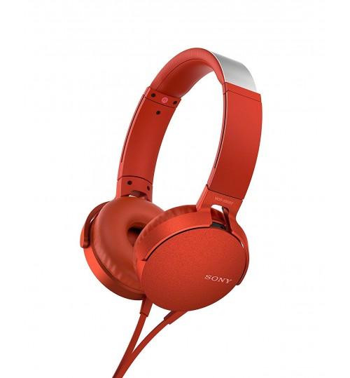 Sony Headphone,Sony,XB550AP,Extra Bass On-Ear Headphone,Red